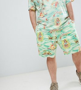 Read more about Polo ralph lauren big tall prepster hawaiian print drawstring chino shorts player logo in green - p