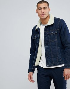 Read more about Abercrombie fitch denim jacket borg lined in denim - denim