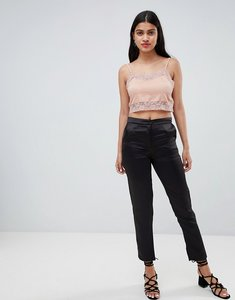 Read more about Glamorous straight leg trousers - black