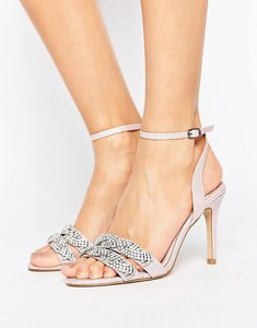 Read more about Faith dash embellished heeled sandals - pink