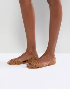 Read more about Asos juna leather summer shoes - tan leather