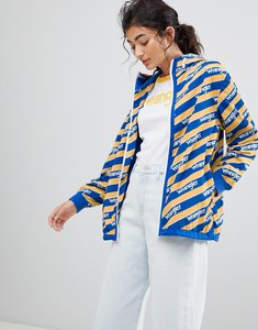 Read more about Wrangler blue and yelow zip through windbreaker jacket - amber yellow