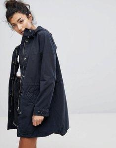 Read more about Levi s chiara fishtail parka coat - jet black