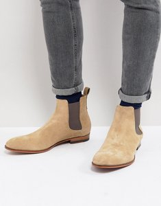 Read more about Hugo suede chelsea boots in beige - 270