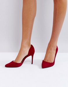 Read more about Mango red pointed court shoe - red