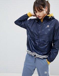 Read more about Adidas originals adicolor windbreaker jacket in navy - navy