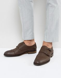 Read more about Selected homme bolton leather nubuck monk shoes in brown - brown