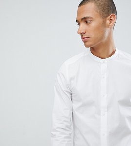 Read more about Only sons skinny smart grandad shirt - white
