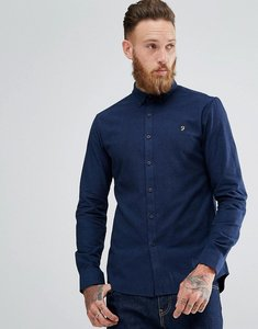 Read more about Farah steen slim fit weft shirt in blue - true blue 976