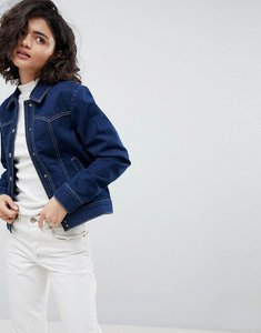 Read more about Asos design denim western jacket in indigo - indigo