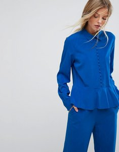 Read more about Gestuz button down flare blouse co-ord - skydiver