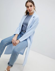 Read more about Monki lightweight duster coat - blue