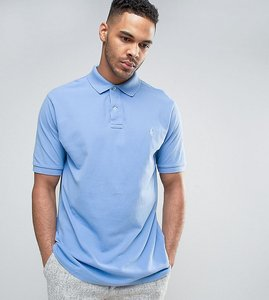 Read more about Polo ralph lauren tall pique polo slim fit in blue - nantucket blue