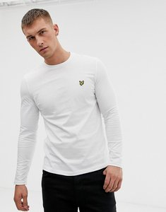 Read more about Lyle scott long sleeve top regular fit eagle logo in white - white