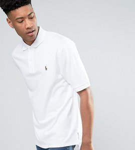 Read more about Polo ralph lauren tall pima cotton polo slim fit in white - white