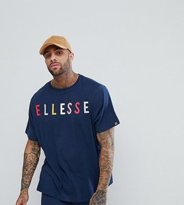 Read more about Ellesse oversized t-shirt with large chest logo in navy - navy