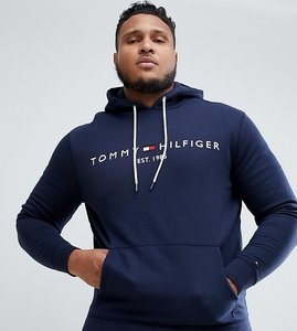 Read more about Tommy hilfiger big tall chest embroidered logo hoodie in navy - navy blazer