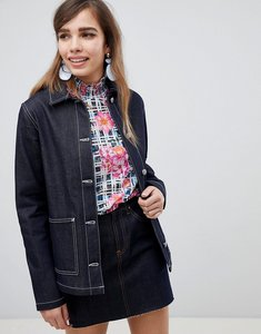 Read more about Asos design denim utility jacket in indigo - indigo