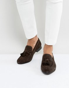 Read more about Dune tassel loafers brown suede - brown
