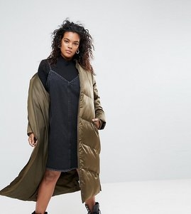 Read more about Asos curve longline puffer coat - khaki