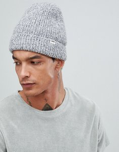 Read more about Wood wood henry ribbed beanie in grey - grey