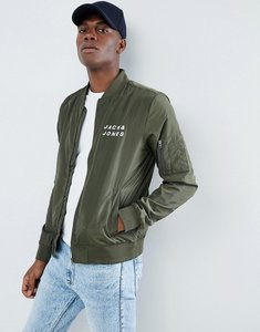 Read more about Jack jones lightweight bomber jacket - forest night