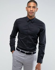 Read more about United colors of benetton slim fit shirt with stretch in black - black