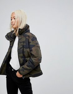 Read more about Blend she caia camo padded jacket - army