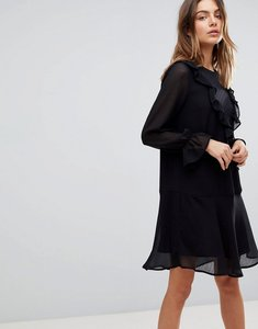 Read more about Y a s ruffle dress with sleeve detail - black