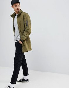 Read more about Penfield pancho long nylon concealed hood parka jacket in green - olive