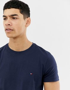 Read more about Tommy hilfiger t-shirt with flag logo in stretch slim fit navy - navy