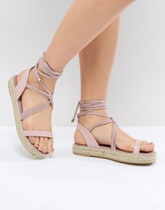 Read more about Pieces espadrille sandal - pink