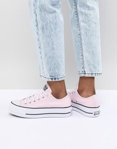 Read more about Converse chuck taylor all star platform trainers in pink - pink