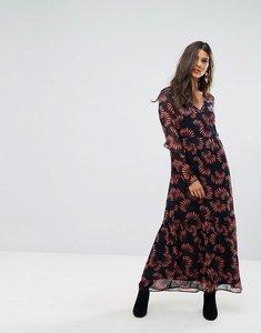 Read more about Vero moda floral print maxi dress - navy