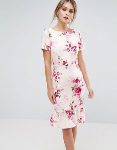 Read more about Paper dolls printed midi dress in floral - multi