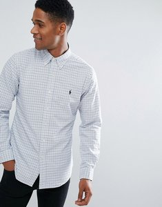 Read more about Polo ralph lauren slim fit check shirt slim fit fit buttondown in white blue - white multi