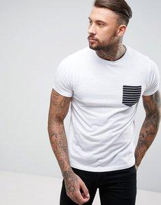 Read more about Brave soul stripe pocket t-shirt - white