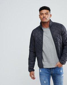 Read more about Blend quilted jacket in dark grey - dark grey