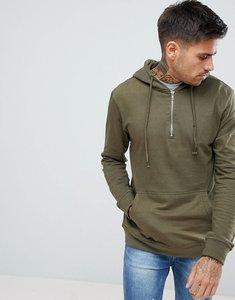Read more about Pull bear half zip hoodie in khaki - khaki