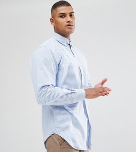 Read more about Polo ralph lauren big tall oxford shirt in light blue stripe - powder blue white