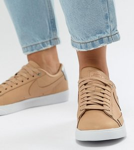 Read more about Nike blazer trainers in sand - beige