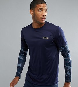 Read more about Ellesse sport long sleeve t-shirt with layered sleeve - navy