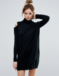 Read more about John jenn blake asymmetric cold shoulder jumper dress - 001 caviar