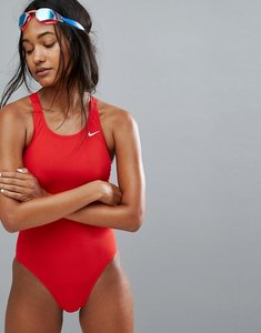 Read more about Nike solid red swimsuit - university red