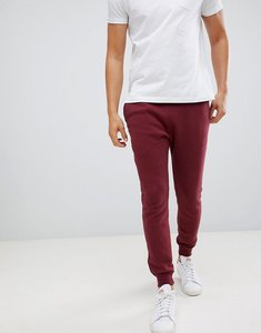 Read more about Hollister icon logo fleece cuffed jogger in burgundy - burg