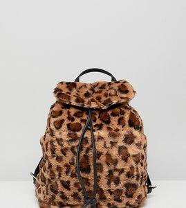 Read more about Stradivarius leopard faux fur backpack