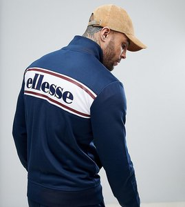 Read more about Ellesse track jacket with back panel logo in navy - navy