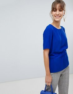 Read more about Selected femme tie waist top - blue