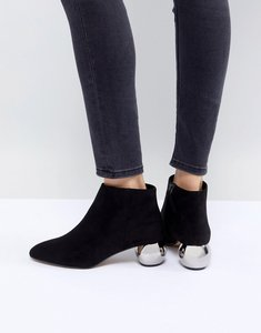 Read more about Mango metal heeled ankle boot - black