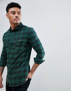 Read more about Good for nothing muscle shirt in green check - green